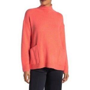 NWT Ady P Patch Pocket Mock Neck Tunic Sweater